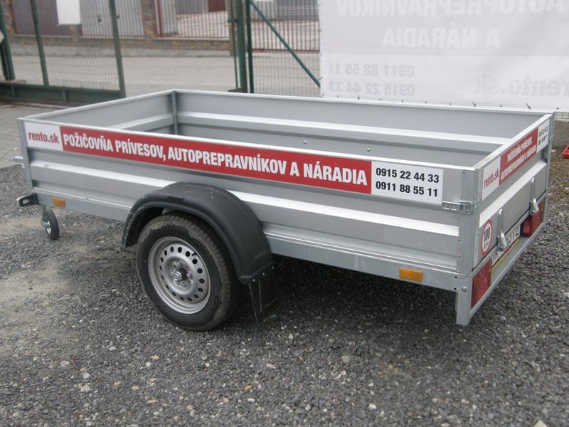 Malý prívesný vozík bez colnej plachty (3 ks)