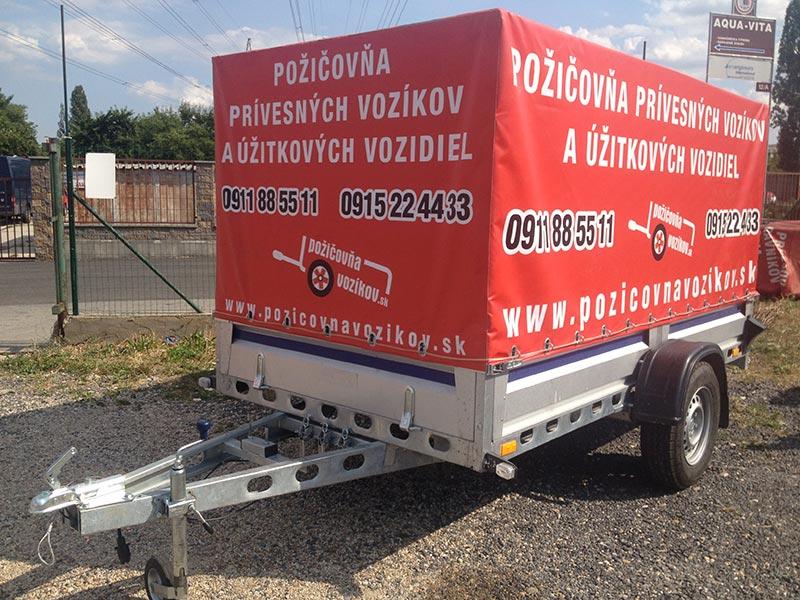 Plachtový nebrzdený vozík (3-metrový) (1 ks)