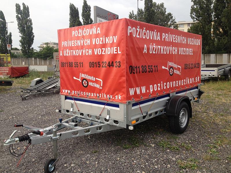 Plachtový brzdený vozík (3-metrový) (1 ks)