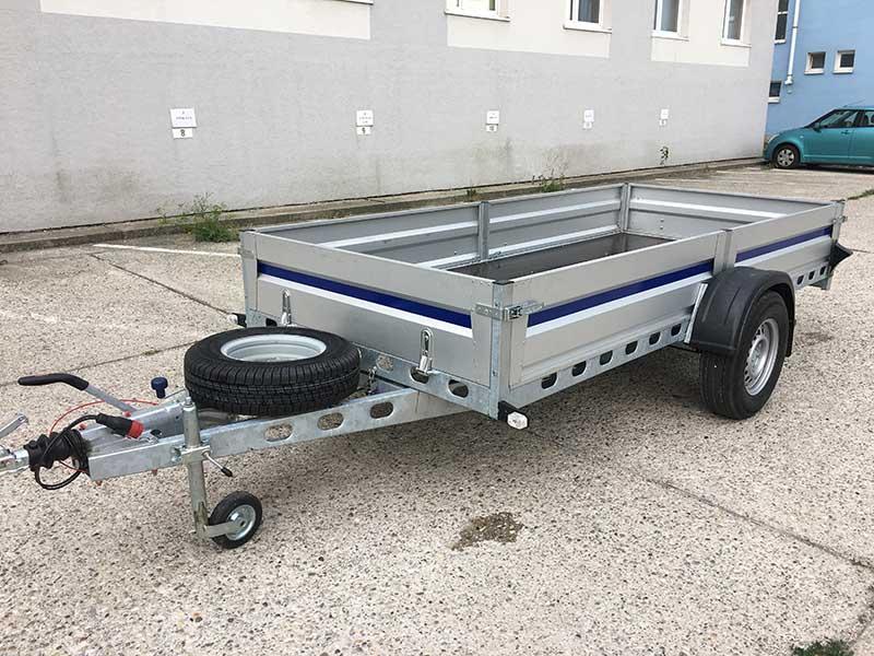 Brzdený 3,5-metrový jednonápravový prívesný vozík